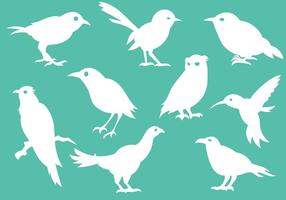 Bird Silhouette Icons Vector