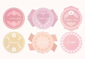 Vector Cute Pastel Badges