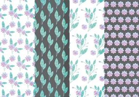 Patterns floraux Lilas Vector