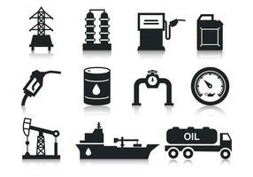 Iconos de aceite gratis Vector