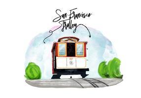 Kostenlose San Francisco Trolley Vektor