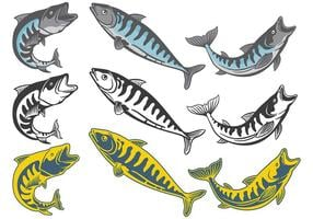 Free Mackerel Icons Vektor