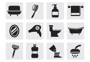 Icone vettoriali gratis bagno