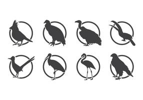 Uccello Silhoutte Logo vettoriale