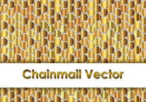 Gold Chainmail Background vector