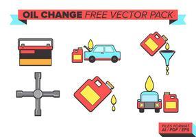 Pacote livre de vetores de mudança de óleo