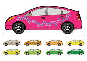 Gratis anpassad Toyota Prius Mall Vector