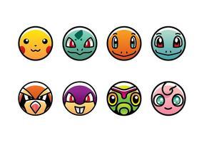 Pokemon icon vector free