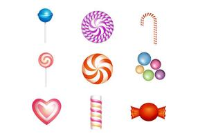 Gratis Zoet en Candies Icon Vector