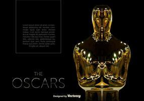 Vector Oscar Estatua Plantilla