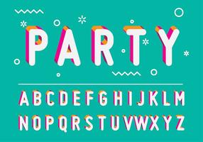 PARTY LETRAS VECTOR