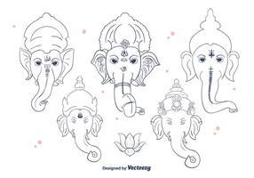 Vector de la línea de Ganesh