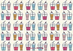 Smoothie and Milkshake Vector Background