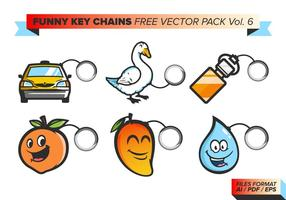 Funny Key Chains Free Vector Pack Vol. 6