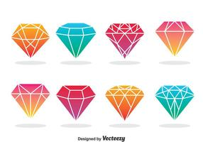 Iconos De Diamantes Vector