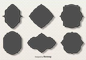 Simple Vector Gray Cartouches