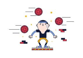 Gratis Dodge Ball Vector
