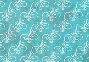 Blauwe Vector Westelijke Bloei Naadloze Patroon