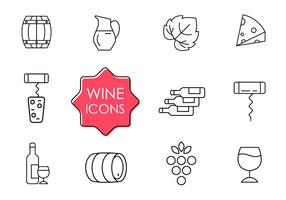 Iconos de vino gratis vector