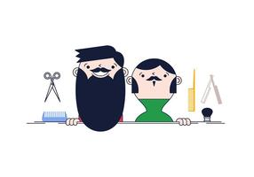 Vector libre de aseo de la barba