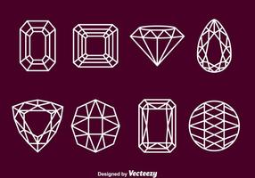 Gems Stone Outline Iconos