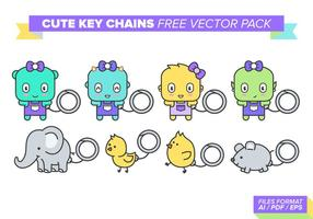Cute Key Chains Free vector pack
