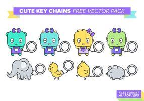 Söt Nyckelringar Gratis Vector Pack