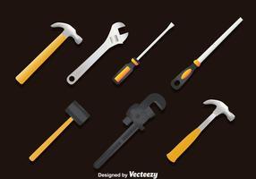 Conjunto de vetores de ferramentas de trabalho