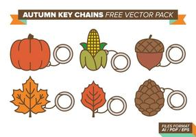 Höst Nyckelringar Gratis Vector Pack