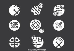 Nanotechnology Icons Vector