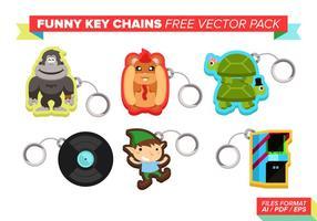 Llaveros divertidos paquete de vectores gratis