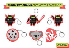 Chaveiros engraçadas free vector pack vol. 5