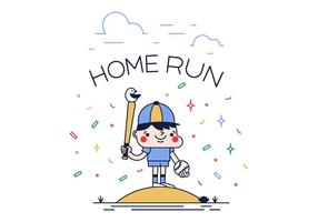 Free Home Run Vector