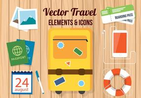 Libre de accesorios de viaje de vector