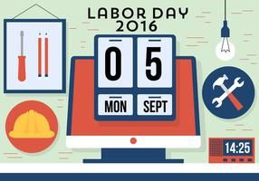 Gratis Labor Day Vector