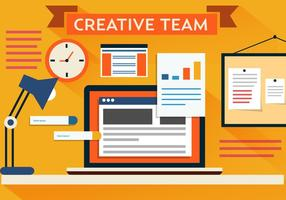 Vector Creative Team Desk