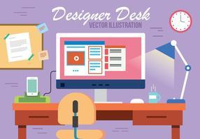 Vector libre de la habitación de los diseñadores