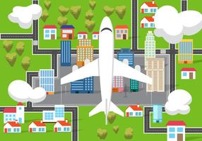Gratis Vliegtuig Van Boven Vector Illustratie