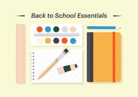 Libre de regreso a la escuela ilustración vectorial