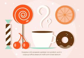 Libre de dulces ilustración vectorial