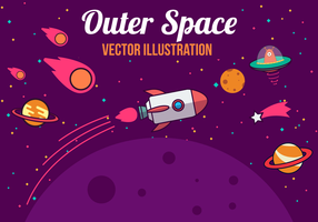 Gratis utrymme vektor illustration