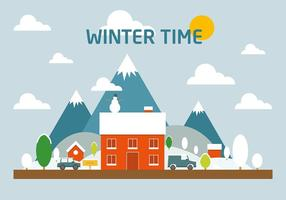 Free Winter landscape Vector