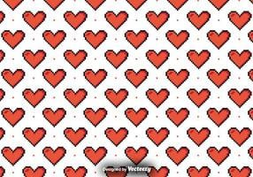 Vector Pattern With Pixelated Hearts