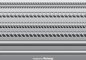 Rebar vektor uppsättning