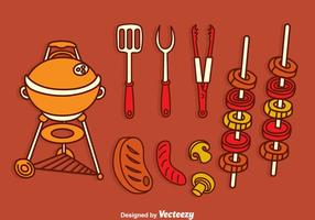 Barbecue Grill Vector Set