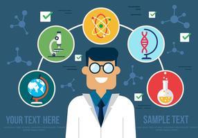 Vector libre del científico