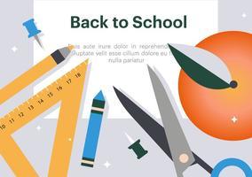 Gratis Platte Terug naar School Vector Illustratie