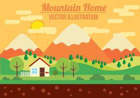 Gratis Mountain Vector Illustration