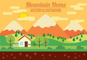 Ilustração do vetor da montanha livre