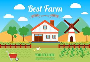 Gratis Agro Farm Vector Illustration